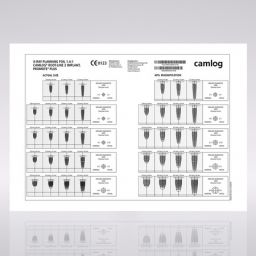 X-Ray Planungsfolie 1.4:1, CAMLOG® ROOT-LINE 2 Implantate