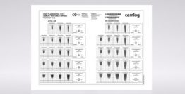 X-Ray Planungsfolie 1.25:1, CAMLOG® ROOT-LINE 2 Implantate